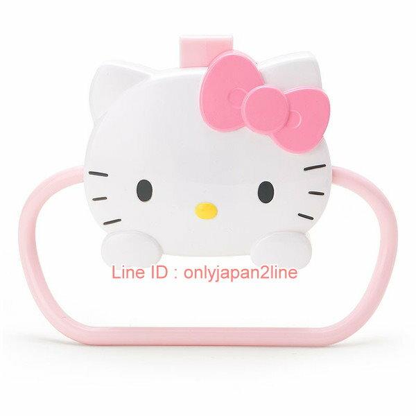 【真愛日本】17021000042  門板毛巾掛環-KT緞帶粉AAA   三麗鷗 Hello Kitty 凱蒂貓   衛浴用品 毛巾架 生活用品