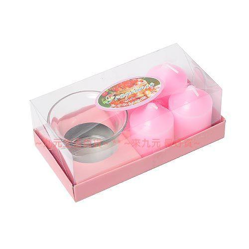 【九元生活百貨】4入香精蠟燭/附燭臺 香氛蠟燭