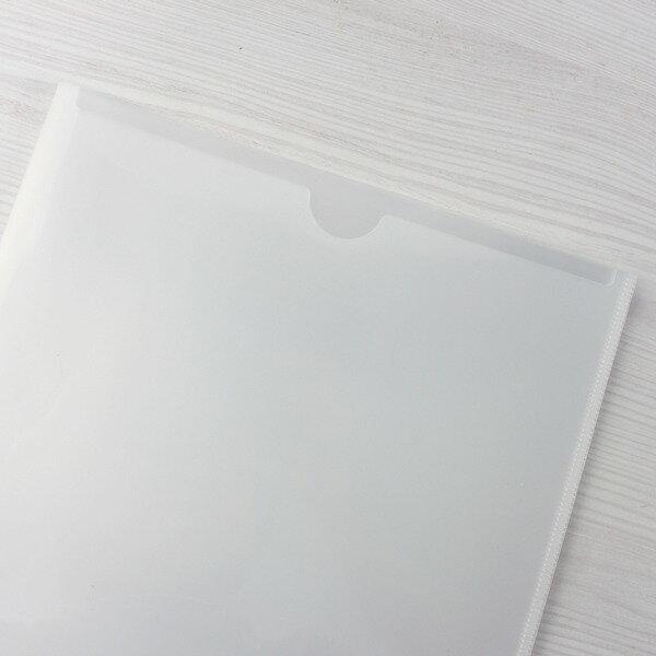 U310 直式U型文件套 大A4 U型夾 / 一包12個入(定10) 透明白色 文件夾 資料夾 台灣製造-雙 2