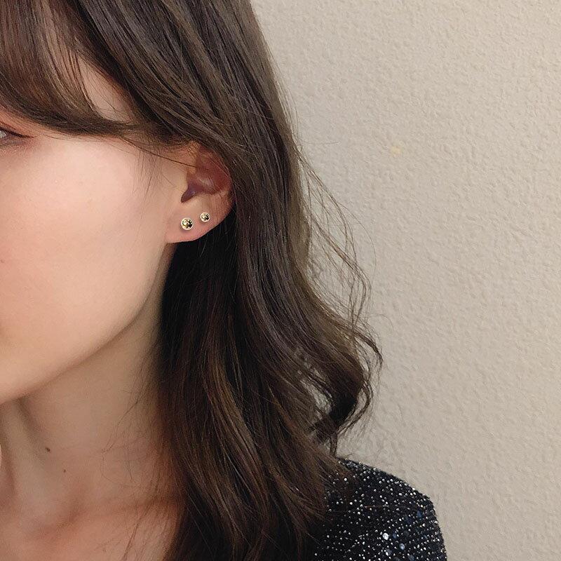 睡覺不用摘的耳釘簡約冷淡風氣質韓國東大門耳骨釘女套裝組合耳環1入