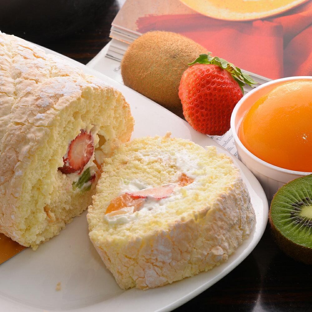 【羅撒法式西點】優格鮮奶油水果蛋糕~「水果捲」
