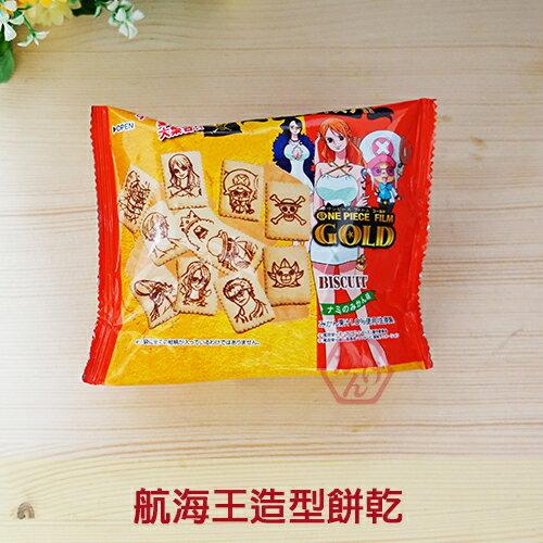 《加軒》日本GLICO航海王造型餅乾