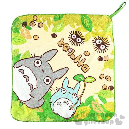 〔小禮堂〕宮崎駿Totoro龍貓 擦手巾~黃綠.小煤炭~可寫名字標註. 丸真系列