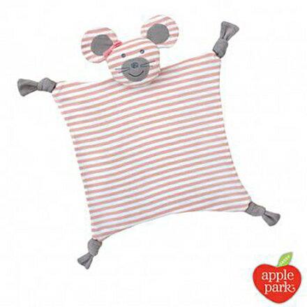 【悅兒樂婦幼用品舘】美國 Apple Park【農場好朋友系列】有機棉安撫巾-芭蕾鼠娘