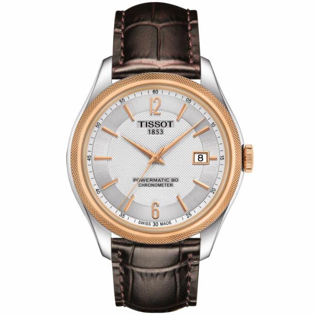 TISSOT天梭 T1084082603700 矽游絲天文台80小時動力儲存時尚機械腕錶/白面41mm
