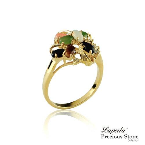 大東山珠寶 璀璨天然寶石 五色彩寶戒指 開運五色