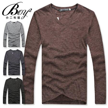 ☆BOY-2☆ 【PPK86009】簡約V領素面薄針織衫 1