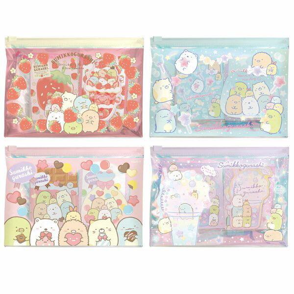 日本角落生物文具組夾鏈袋便條本便條紙鉛筆紙巾/4款隨機出貨