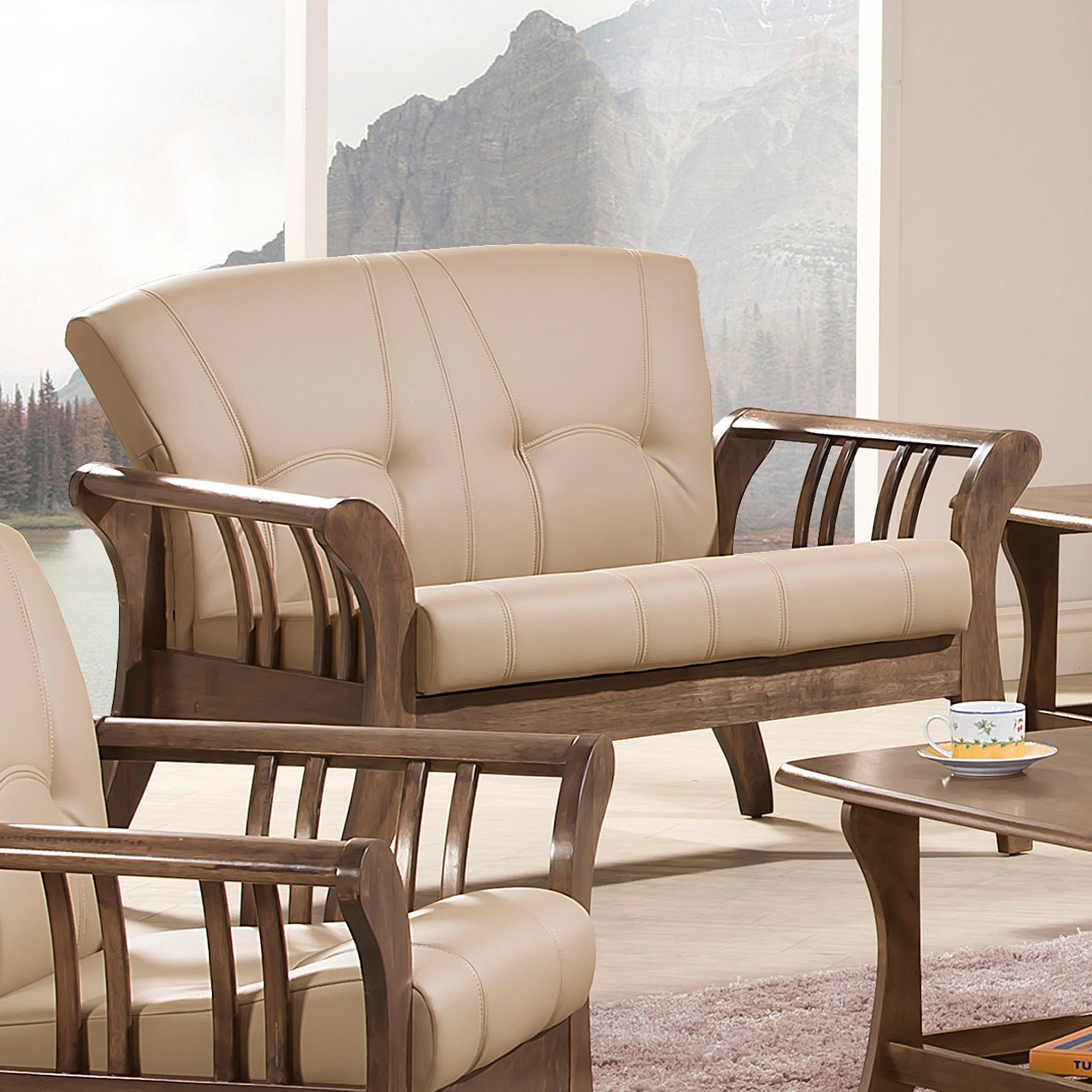 《伊豆》(促銷免運)黑色 二人沙發 全實木 二人位沙發 二人座 皮沙發 木製沙發 工廠直營 辦公沙發 組椅 !新生活家具! 樂天雙12