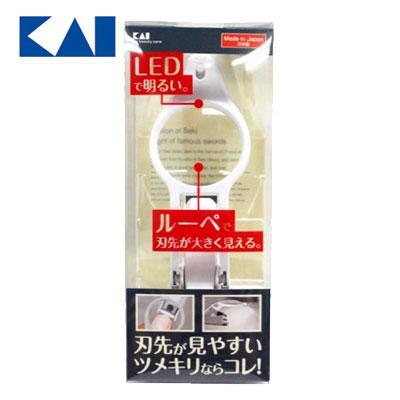 日本貝印 LED放大鏡指甲剪KIKQ0334 / 支