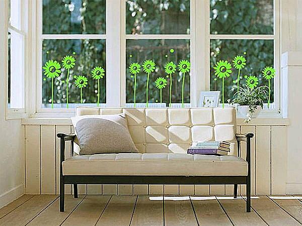 BO雜貨【SP1205】高品質DIY創意牆貼/壁貼/背景貼/磁磚貼 霧面 小花小草 四色可選