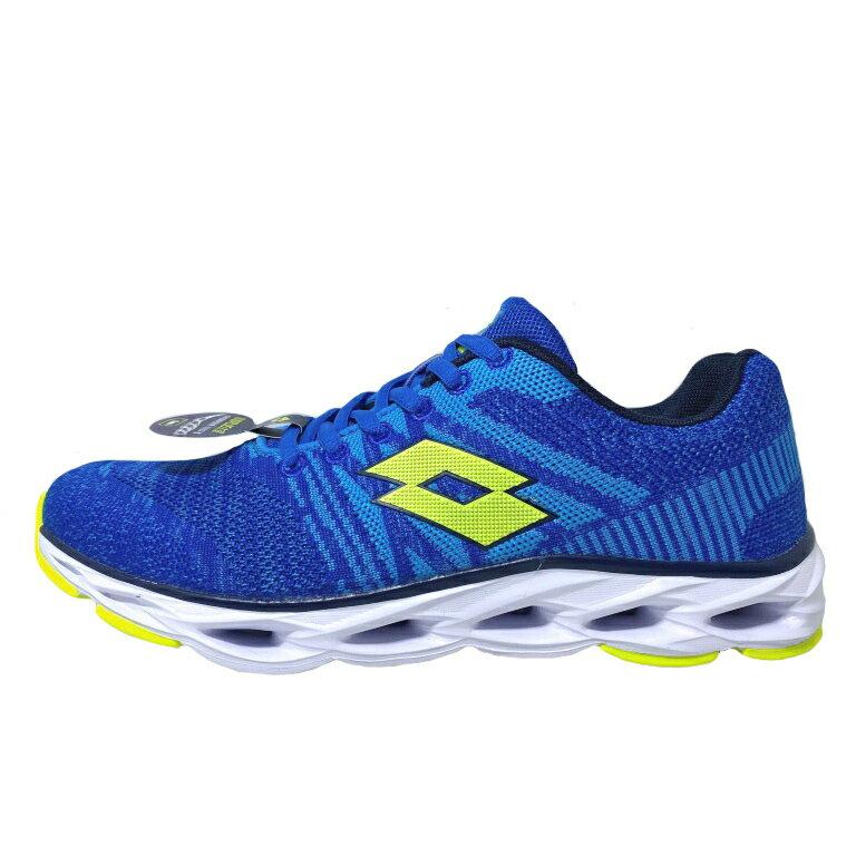 【超取$399免運   滿額↘再折$150】LOTTO樂得-義大利第一品牌 男款SUPER LITE輕量風動跑鞋 [LT9AMR0526] 藍【巷子屋】
