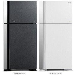 日立 HITACHI RG599  570公升變頻雙門冰箱  琉璃灰 / 琉璃白