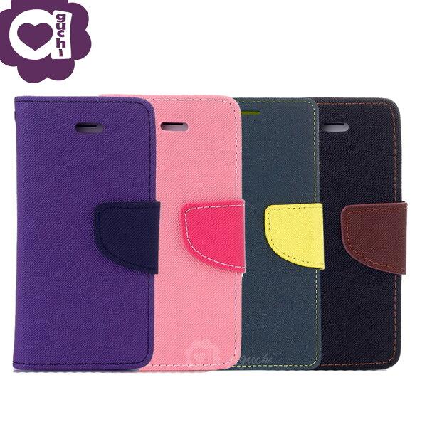 SamsungGalaxyJ7Prime馬卡龍雙色系列側掀支架式手機皮套磁吸扣帶紫粉藍黑棕多色可選