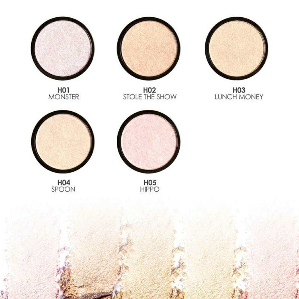 Single Brightening Face Squeezed Highlighter Powder Makeup 3