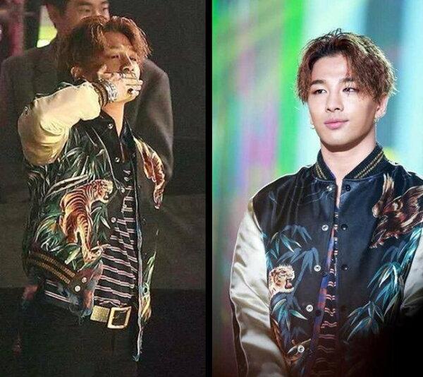 Bigbang權志龍東永裴太陽同款中國風老虎緞面棒球衣夾棉外套男1比1訂製