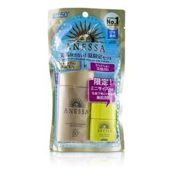 Shiseido 資生堂 Anessa 安耐曬組合: 安耐曬金鑽高效防曬露 小金瓶 SPF50+ PA+++ 60ml + 安耐曬高效運動型BB霜 7.5ml  2pcs