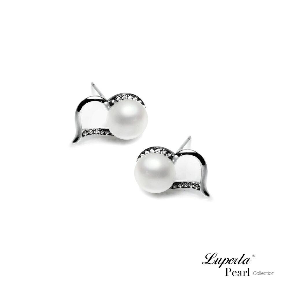 大東山珠寶 唯愛珍心 925純銀珍珠耳環 純白色 2