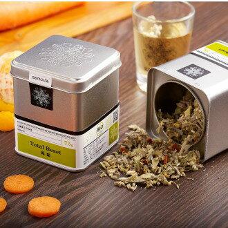 原點-有機養生草本茶(大罐75g) - 芬芳青草香與胡蘿蔔、橙皮甘味 | 無咖啡因茶