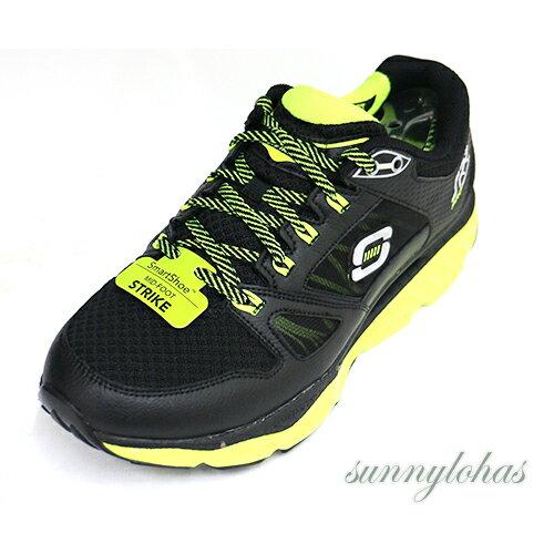 SKECHERS(男)回彈力慢跑鞋SRRPRO-RESISTANCE訓練專用-999738BKLM黑綠[陽光樂活]