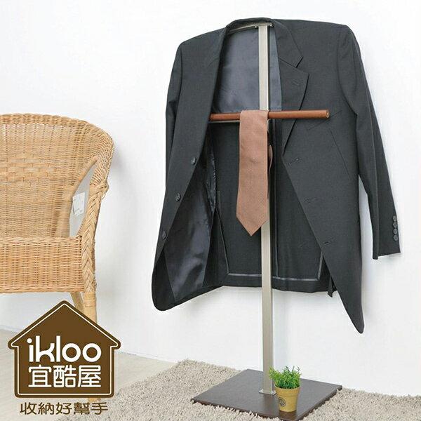 ikloo極簡時尚西裝架/掛衣架 衣帽架 木架 掛桿 衣架 置物架 玄關 臥室【YV5088】 快樂生活網