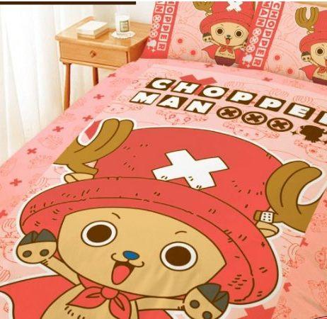 LUST寢具 【航海王/喬巴超人-粉 】床包/枕套/被套、日本卡通授權、台灣製