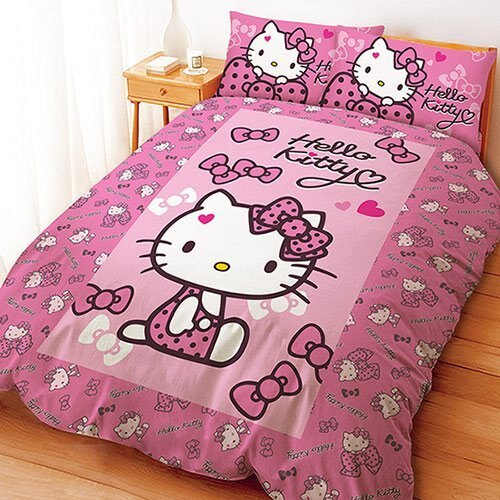 LUST寢具 【蝴蝶結甜心系列】床包/枕套/被套/、日本卡通授權、台灣製