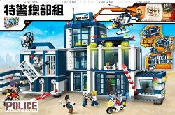 警察局 變形 卡車 積木 樂高 lego 益智 玩具 (A024) DINISHOP
