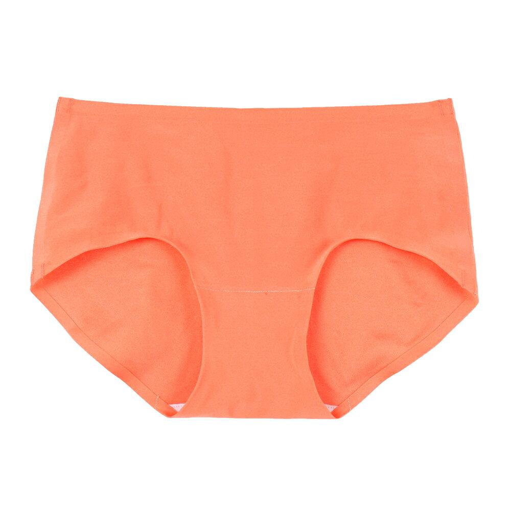 【emon】親膚 零著感無痕三角褲(粉橙)