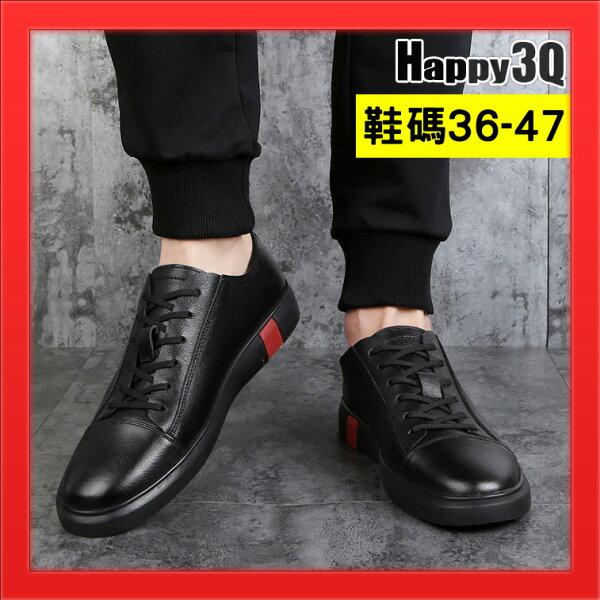 平底鞋男鞋綁帶肩頭小白鞋加大男鞋47碼11.5美國碼男鞋-黑白藍36-47【AAA4666】