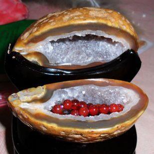 水晶瑪瑙聚寶盆擺件