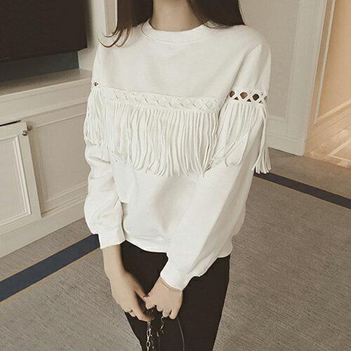 秋裝新品 韓流蘇鏤空衛衣T恤(2色S~4XL) 【OREAD】 1