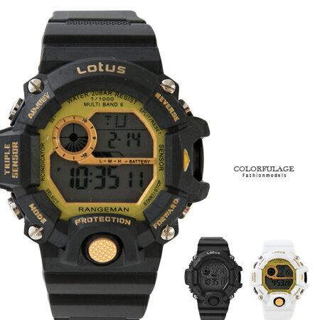 手錶 多功能休閒運動電子膠錶.腕錶 運動休閒潮流中性單品 防水30米 柒彩年代【NE1589】單支 0