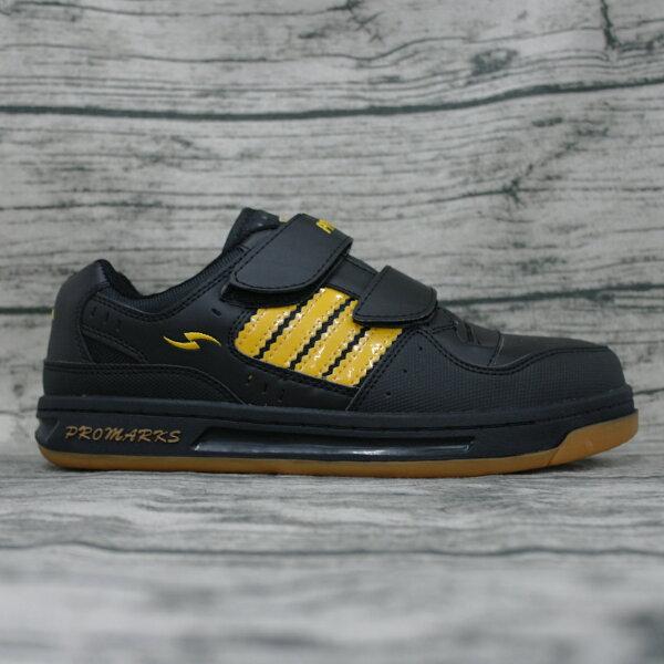 ※555鞋※PROMARKS3830黑黃鋼頭鞋工作鞋板鞋MIT台灣製CNS認證鞋鞋底加強車縫橡膠大底特價890元贈襪乙雙