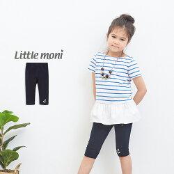 Little moni 內搭五分褲-深藍