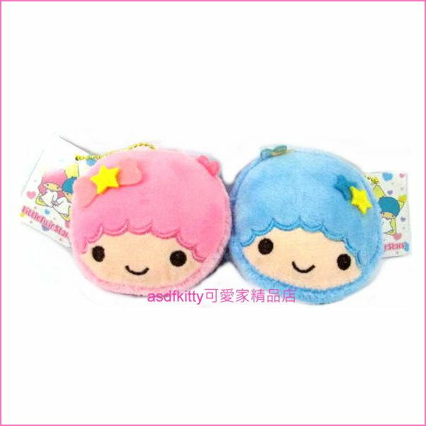 asdfkitty可愛家☆雙子星絨毛娃娃鑰匙圈吊飾/掛飾-很大很顯眼-掛包包上或掛車上都好用-台灣正版商品