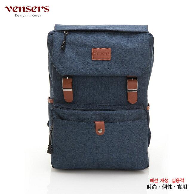 【vensers】簡約丹寧牛仔後背包(R00064101寶藍) 0