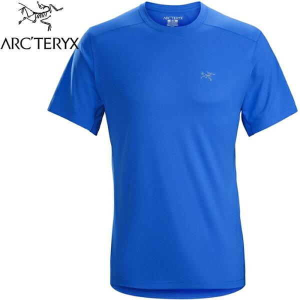 Arcteryx始祖鳥登山排汗衣圓領短袖排汗衣透氣控溫吸濕20987Velox男款參宿藍