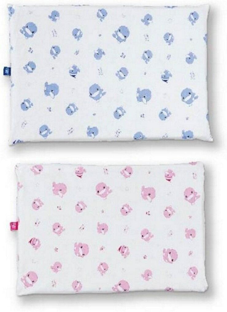 KUKU親水透氣嬰兒乳膠枕(藍/粉)【寶貝樂園】