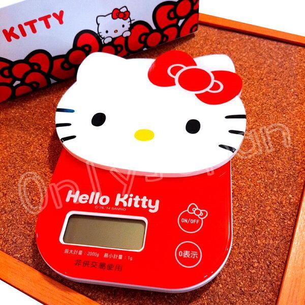 【真愛日本】18052300001電子家庭用料理秤-KT大臉紅結kitty凱蒂貓電子料理秤料理秤計量用具