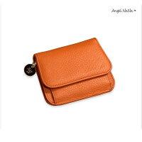(299超商免運)真皮短夾-超薄簡約ins牛皮女皮夾零錢包 AngelNaNa【MA0278】-AngelNaNa-流行女裝