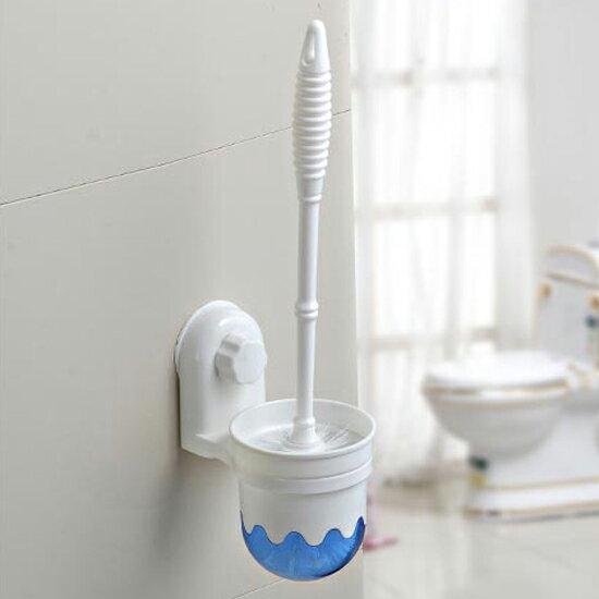 ?MY COLOR?吸盤懸掛式馬桶刷套組 縫隙 去汙 浴室 汙垢 汙漬 無死角 彎頭 刷洗 廁所【T40】