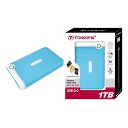 創見 Transcend 1TB USB3.0 StoreJet 25M3隨身硬碟(水藍色) 產品型號: TS1TSJ25M3B