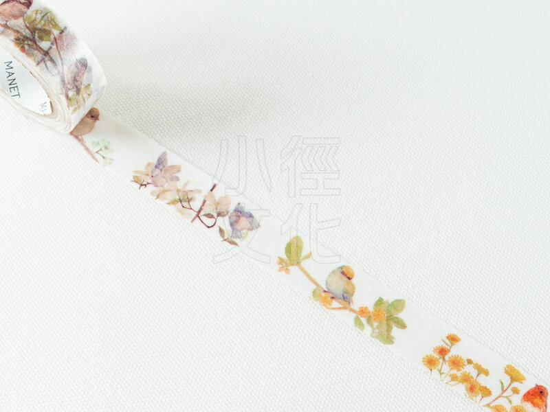 ~小徑文化~ 和紙膠帶 MANET系列 ~ Bird Garden   MN~MT~034
