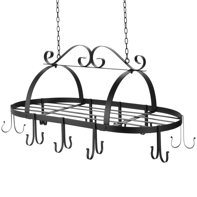Iron Hanging Pot Holder Kitchen Storage Utility Cookware Hook Rack 1
