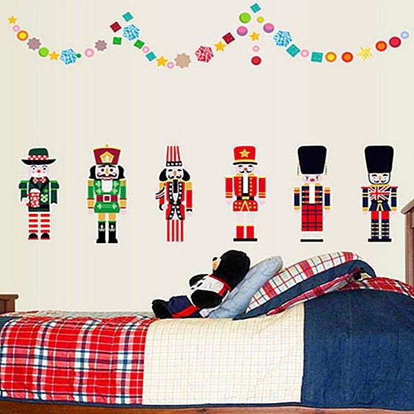 BO雜貨【YV4222】創意可移動壁貼 牆貼 背景貼 時尚組合壁貼 胡桃夾子