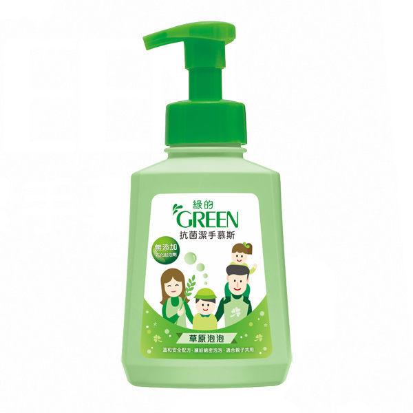【綠的GREEN】抗菌潔手慕斯-草原泡泡500ml 0