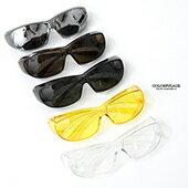 護目鏡簡單方型微透色太陽眼鏡NY434