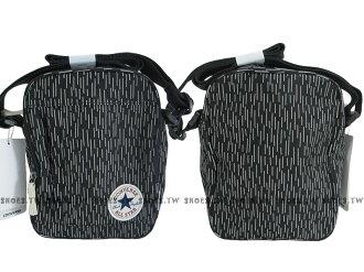Shoestw【10002534970】CONVERSE 側背包 多功能小側包 黑雨滴 男女都適用