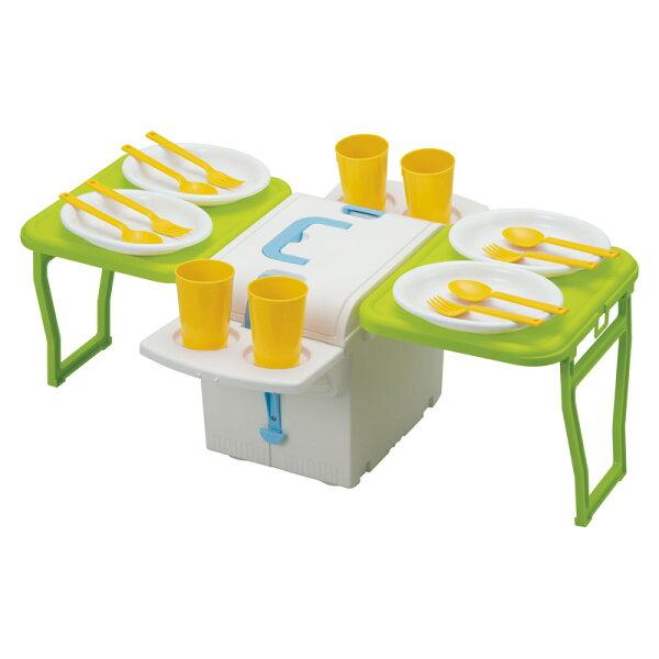 日本必買免運代購-日本IMOTANI立方體折疊野餐桌50.5×66×23.7cmlo-m70515034。共1色